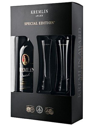 Kremlin Awards vodka + dva poháre